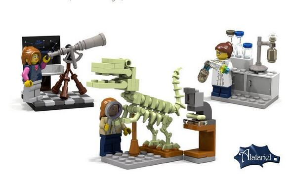 A small step for (plastic) womankind: the new aspirational science-themed 'Research Institute' set, is a welcome addition to the LEGO range.